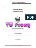 Internship Report on Islamabad Stock Exchange