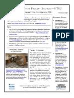 TPS-MTSU; Newsletter September 2013