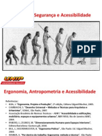 Ergonomia, Antrop Acessib UNIP