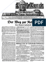 1929 Nr. 2, Der Weg zur Rettung; Ludendorffs Volkswarte, A3 Format