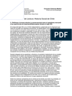 Primer Control Historia Social de Chile