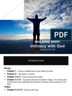 Building Deep - Intimacy With God (Jos 5.13-15)