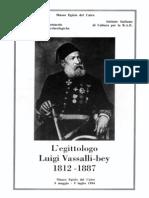 F. Tiradritti, L'egittologo Luigi Vassalli-bey (1812-1887), 1994