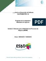 Unidad 2. Notacion Para El Modelado de Procesos de Negocio BPMN