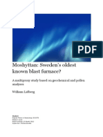 Moshyttan Sweden's oldest known blast furnace - A multiproxy study based on geochemical and pollen analyses