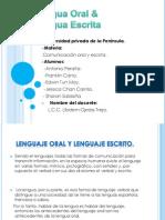 OE Ej01 Lengua Oral & Lengua Escrita