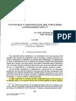 Aventuras y Desventuras Del Populismo Latinoamericano
