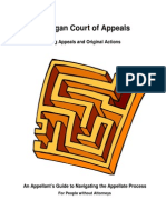 Michigan Court of Appeals Appellant Manual