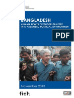BANGLADESH HumAN riGHtS DEfENDErS trAppED iN A poLAriSED poLiticAL ENviroNmENt