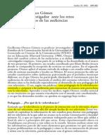 11 Guillermo Orozco Gómez El lugar del investigador ante el reto del análisis crítico de las audiencias.