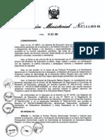 RM 544-2013-ED Contratación de Profesionales en el Marco del PPR PELA 2014