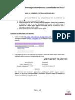 Como asignarte tus exámenes centralizados en línea 2013