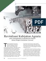 Revitalisasi Kebijakan Agraria guna Meningkatkan Kesejahteraan Rakyat dalam rangka Ketahanan Nasional