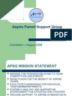 APSG Orientation 2009 Revision 1