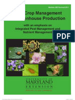 Crop Management for Greenhouse Production