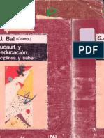6855358 S J Ball Foucault y La Educacion