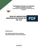 GUÍA DE LABORATORIO DE MÁQUINAS ELÉCTRICAS ESTÁTICAS ML223 (28.08.2013)