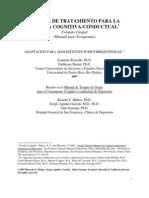 Manual de Tratamiento de La Terapia Cognitiva Conductual (Formato Grupal Manual Para Terapeutas 2007)