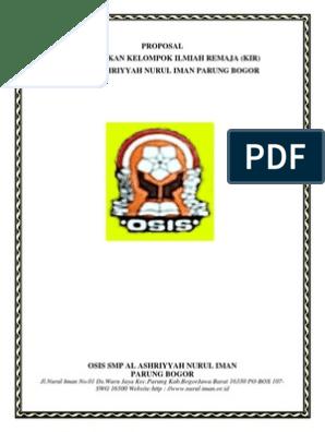 Proposal Karya Ilmiah Remaja Docx