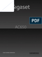 Manual Telefone Siemens Gigaset AC650