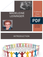 nursing theorist madeleine leininger