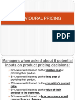 Behavioural Pricing