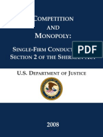 U.S Department of justice - sigle-firm conduct under section 2 of the sherman act.pdf