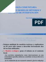 Modelos Teoricos de La Psicologia Comunitartia