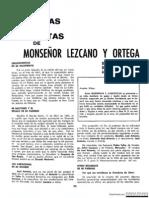 Anecdotas de Mons. Lezcano