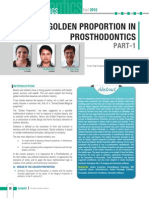 GolDen ProportIon in ProsthoDontICs Part-1