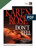 No Hables - Karen Rose