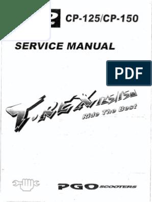 Pgo T Rex 125 150 Service Manual Pdf
