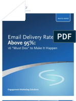 Email Delivery Rates Above 95 Pct