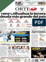 Periodico Norte de Ciudad Juarez 10 de Noviembre de 2013