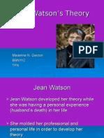 Jean Watson's Theory
