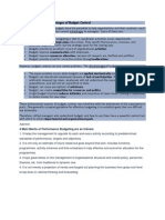 Advantages and Disadvantages of Budget Control