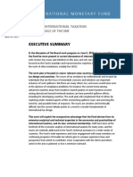 Issues in International Taxation and the Role of the Imf