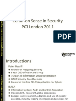 Common Sense in Security