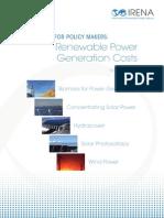 Renewable Power Generation Costs
