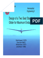 Group 1 Design of a Two Seat Standard Glider for Maximum Endurance