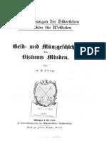 Geld- und Münzgeschichte des Bistums Minden / von E. Stange