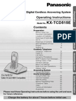 Panasonic KX-TCD515 manual