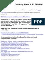 Alan's Hobby, Model & RC FAQ Web Links at 5 Oct 2012