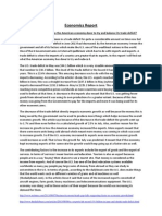 economics report on u s  trade deficit