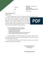 Surat Permohonan Dari Panitia
