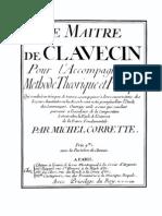 3504649 Le Maitre de Clavecin Pour Laccompagnement Michel Corrette