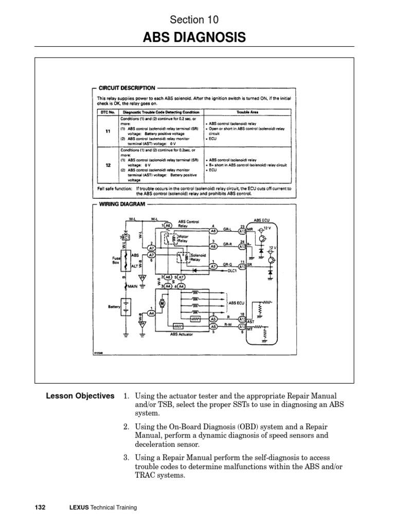 Brake10 Abs Diagnosispdf Anti Lock Braking System Electrical Relay Circuit Function Connector