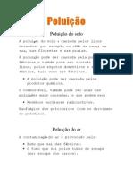 Poluição (vários tipos de poluição)