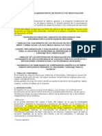 Elaboracion de Proyectos de Investigacion 1