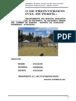 Ampliacion y Mejoramiento Del Servicio Educativo Del Nivel Inicial No 432-68 Mx-V Virgen Del Carmen de Rancha - Distrito de Ayacucho - Huamanga- Ayacucho